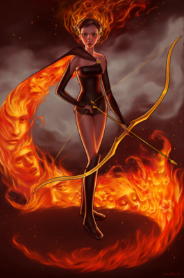 Katniss on FIRE!!